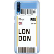 Силиконовый чехол BoxFace Samsung A705 Galaxy A70 Ticket London (36861-cc83)