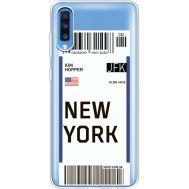 Силиконовый чехол BoxFace Samsung A705 Galaxy A70 Ticket New York (36861-cc84)