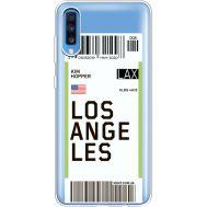 Силиконовый чехол BoxFace Samsung A705 Galaxy A70 Ticket Los Angeles (36861-cc85)