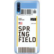 Силиконовый чехол BoxFace Samsung A705 Galaxy A70 Ticket Springfield (36861-cc93)