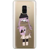 Силиконовый чехол BoxFace Samsung A530 Galaxy A8 (2018) Winter Morning Girl (35014-cc61)