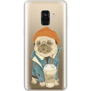 Силиконовый чехол BoxFace Samsung A530 Galaxy A8 (2018) Dog Coffeeman (35014-cc70)