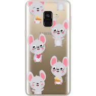 Силиконовый чехол BoxFace Samsung A530 Galaxy A8 (2018) с 3D-глазками Mouse (35014-cc76)