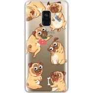 Силиконовый чехол BoxFace Samsung A530 Galaxy A8 (2018) с 3D-глазками Pug (35014-cc77)