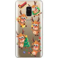 Силиконовый чехол BoxFace Samsung A530 Galaxy A8 (2018) с 3D-глазками Reindeer (35014-cc74)