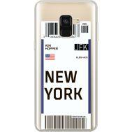 Силиконовый чехол BoxFace Samsung A530 Galaxy A8 (2018) Ticket New York (35014-cc84)