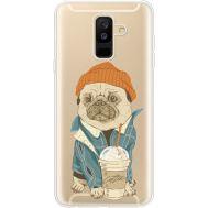 Силиконовый чехол BoxFace Samsung A605 Galaxy A6 Plus 2018 Dog Coffeeman (35017-cc70)