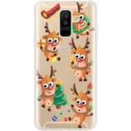 Силиконовый чехол BoxFace Samsung A605 Galaxy A6 Plus 2018 с 3D-глазками Reindeer (35017-cc74)