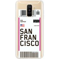 Силиконовый чехол BoxFace Samsung A605 Galaxy A6 Plus 2018 Ticket San Francisco (35017-cc79)