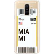 Силиконовый чехол BoxFace Samsung A605 Galaxy A6 Plus 2018 Ticket Miami (35017-cc81)