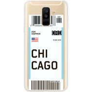 Силиконовый чехол BoxFace Samsung A605 Galaxy A6 Plus 2018 Ticket Chicago (35017-cc82)