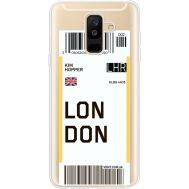 Силиконовый чехол BoxFace Samsung A605 Galaxy A6 Plus 2018 Ticket London (35017-cc83)