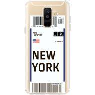 Силиконовый чехол BoxFace Samsung A605 Galaxy A6 Plus 2018 Ticket New York (35017-cc84)