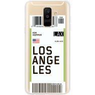 Силиконовый чехол BoxFace Samsung A605 Galaxy A6 Plus 2018 Ticket Los Angeles (35017-cc85)