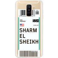 Силиконовый чехол BoxFace Samsung A605 Galaxy A6 Plus 2018 Ticket Sharmel Sheikh (35017-cc90)