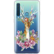 Силиконовый чехол BoxFace Samsung A920 Galaxy A9 2018 Deer with flowers (935646-rs5)