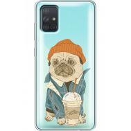 Силиконовый чехол BoxFace Samsung A715 Galaxy A71 Dog Coffeeman (38851-cc70)