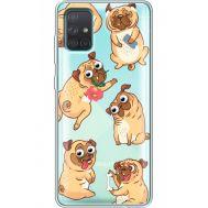 Силиконовый чехол BoxFace Samsung A715 Galaxy A71 с 3D-глазками Pug (38851-cc77)