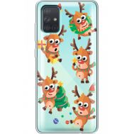 Силиконовый чехол BoxFace Samsung A715 Galaxy A71 с 3D-глазками Reindeer (38851-cc74)