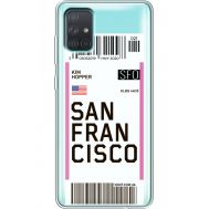 Силиконовый чехол BoxFace Samsung A715 Galaxy A71 Ticket San Francisco (38851-cc79)