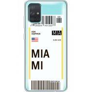Силиконовый чехол BoxFace Samsung A715 Galaxy A71 Ticket Miami (38851-cc81)
