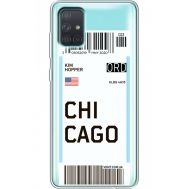Силиконовый чехол BoxFace Samsung A715 Galaxy A71 Ticket Chicago (38851-cc82)