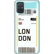 Силиконовый чехол BoxFace Samsung A715 Galaxy A71 Ticket London (38851-cc83)