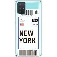 Силиконовый чехол BoxFace Samsung A715 Galaxy A71 Ticket New York (38851-cc84)