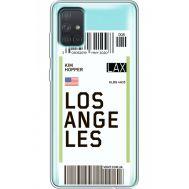 Силиконовый чехол BoxFace Samsung A715 Galaxy A71 Ticket Los Angeles (38851-cc85)