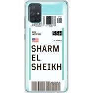 Силиконовый чехол BoxFace Samsung A715 Galaxy A71 Ticket Sharmel Sheikh (38851-cc90)