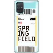 Силиконовый чехол BoxFace Samsung A715 Galaxy A71 Ticket Springfield (38851-cc93)