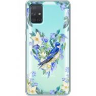 Силиконовый чехол BoxFace Samsung A715 Galaxy A71 Spring Bird (38851-cc96)