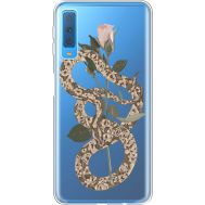 Силиконовый чехол BoxFace Samsung A750 Galaxy A7 2018 Glamor Snake (35483-cc67)