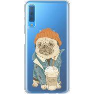 Силиконовый чехол BoxFace Samsung A750 Galaxy A7 2018 Dog Coffeeman (35483-cc70)