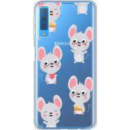 Силиконовый чехол BoxFace Samsung A750 Galaxy A7 2018 с 3D-глазками Mouse (35483-cc76)
