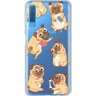 Силиконовый чехол BoxFace Samsung A750 Galaxy A7 2018 с 3D-глазками Pug (35483-cc77)