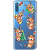 Силиконовый чехол BoxFace Samsung A750 Galaxy A7 2018 с 3D-глазками Reindeer (35483-cc74)
