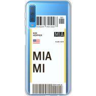 Силиконовый чехол BoxFace Samsung A750 Galaxy A7 2018 Ticket Miami (35483-cc81)