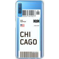 Силиконовый чехол BoxFace Samsung A750 Galaxy A7 2018 Ticket Chicago (35483-cc82)