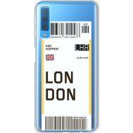 Силиконовый чехол BoxFace Samsung A750 Galaxy A7 2018 Ticket London (35483-cc83)