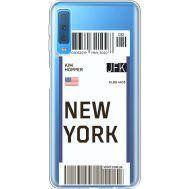 Силиконовый чехол BoxFace Samsung A750 Galaxy A7 2018 Ticket New York (35483-cc84)