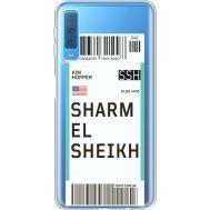 Силиконовый чехол BoxFace Samsung A750 Galaxy A7 2018 Ticket Sharmel Sheikh (35483-cc90)