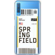 Силиконовый чехол BoxFace Samsung A750 Galaxy A7 2018 Ticket Springfield (35483-cc93)