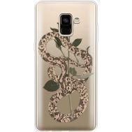 Силиконовый чехол BoxFace Samsung A730 Galaxy A8 Plus (2018) Glamor Snake (35992-cc67)
