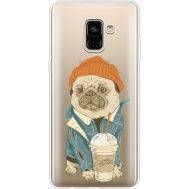 Силиконовый чехол BoxFace Samsung A730 Galaxy A8 Plus (2018) Dog Coffeeman (35992-cc70)