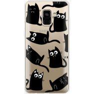 Силиконовый чехол BoxFace Samsung A730 Galaxy A8 Plus (2018) с 3D-глазками Black Kitty (35992-cc73)