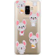 Силиконовый чехол BoxFace Samsung A730 Galaxy A8 Plus (2018) с 3D-глазками Mouse (35992-cc76)