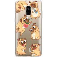 Силиконовый чехол BoxFace Samsung A730 Galaxy A8 Plus (2018) с 3D-глазками Pug (35992-cc77)