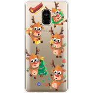 Силиконовый чехол BoxFace Samsung A730 Galaxy A8 Plus (2018) с 3D-глазками Reindeer (35992-cc74)