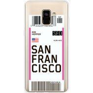 Силиконовый чехол BoxFace Samsung A730 Galaxy A8 Plus (2018) Ticket San Francisco (35992-cc79)